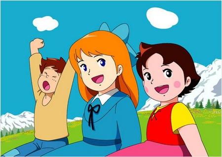 Pedro, Clara y Heidi