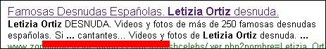 algunos sitios eróticos han intentado aprovecharse del buen nombre de Leticia Ortiz Rocasolano