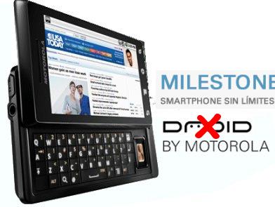 Milestone, el nuevo Android de Motorola, llegará a España en Marzo