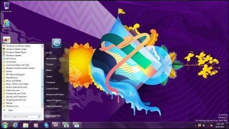 HP Premier Experience streamlined Start Menu
