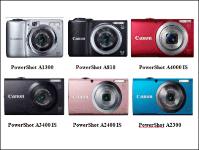 Nuevas Canon PowerShot A