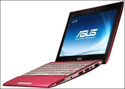 Eee PC 1025 Flare Series, con procesador dual-core