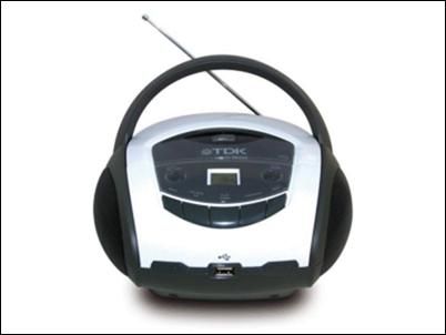 TDK Boombox TBC 8717WH: música portátil en CD y USB