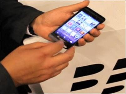 Primer video oficial y en español de un Blackberry operando bajo la nueva versión del sistema operativo