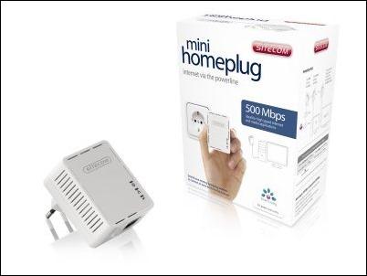 Mini Homeplugs compactos para  conectarse a través del cableado electrico