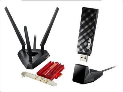 ASUS presenta los PCE-AC66 y USB-AC53, dos adaptadores inalámbricos con conectividad 802.11ac