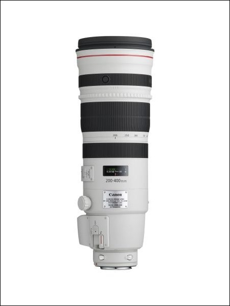 Objetivo Canon EF 200-400 mm f/4L IS USM con Multiplicador 1,4x,