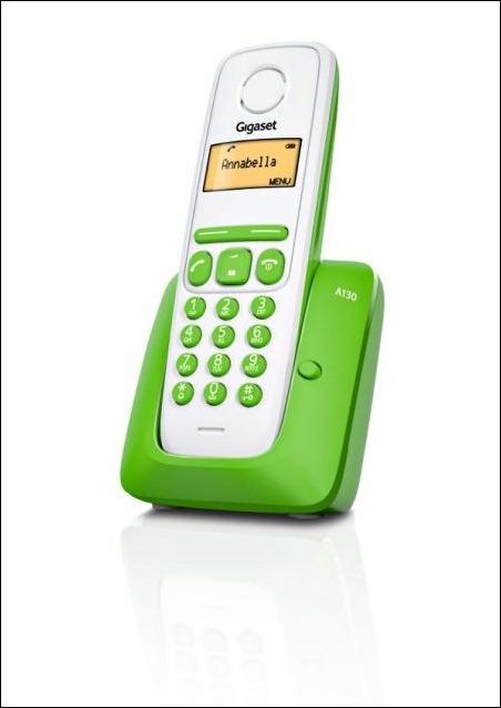 Gigaset A130: un teléfono DECT con diseño fresco y moderno