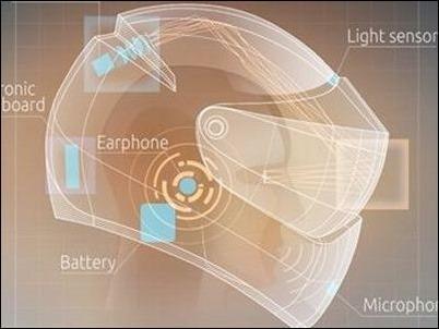 Casco de motorista con funcionalidades de Google Glass