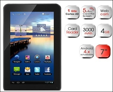 "Woxter Tablet PC 50 BL: Tablet de 7"" con Android 4.0 al precio de 79€"