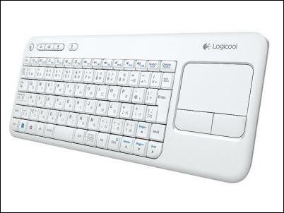 Logitech Wireless Touch K400 White