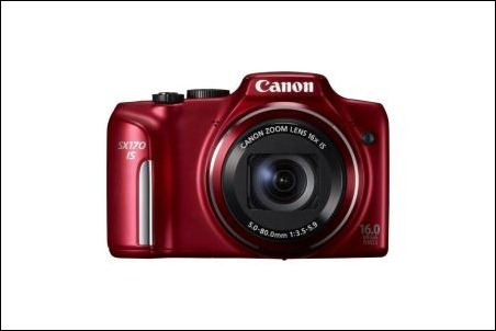 PowerShot SX170 IS_RED_FRT_04