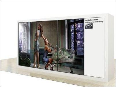 Samsung presentará un videowall de 98'' y un monitor 4k de 31,5'' en la IFA 2013