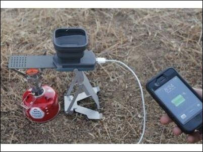 Flamestower, el cargador para móviles o GPS que usa el agua caliente como fuente de energía