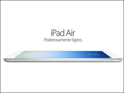 Llega el iPad Air, el iPad más ligero y potente de la historia