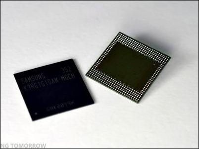 Samsung desarrolla los primeros chips de 4 GB de memoria RAM para un teléfono