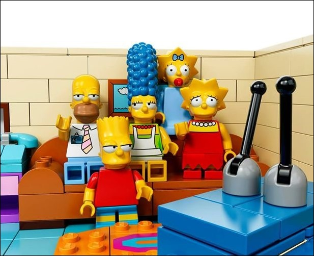 La familia Simpson llega al universo Lego