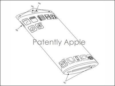 Apple obtiene patente de pantalla curva