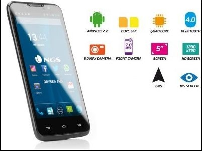 NGS lanza su primer smartphone: Odysea 5 HD