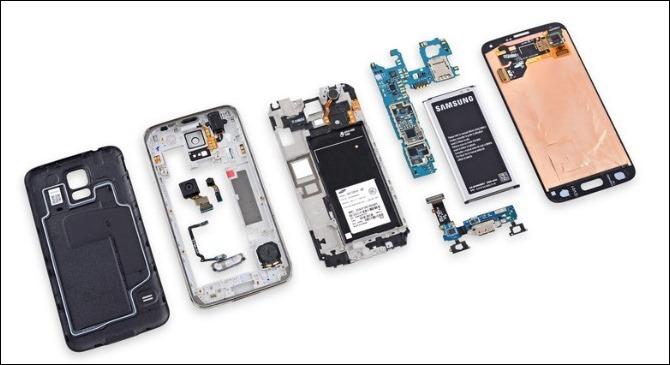 Samsung Galaxy S5 es difícil de reparar