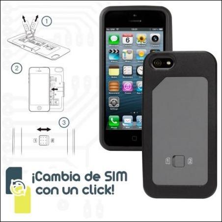 Funda doble Sim para iPhone 5 y 5S