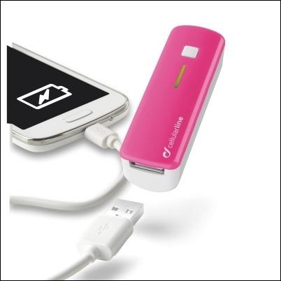 cellularline-Pocket Charger Smart_Pink