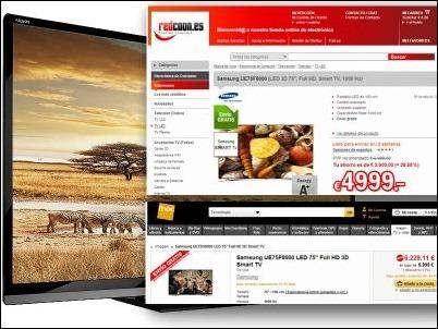 Un mismo modelo de TV puede presentar hasta 1.230 euros de diferencia en su precio