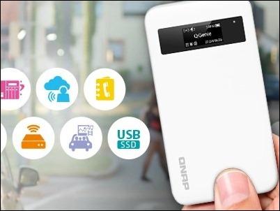 QGenie, un NAS de bolsillo para la generación móvil
