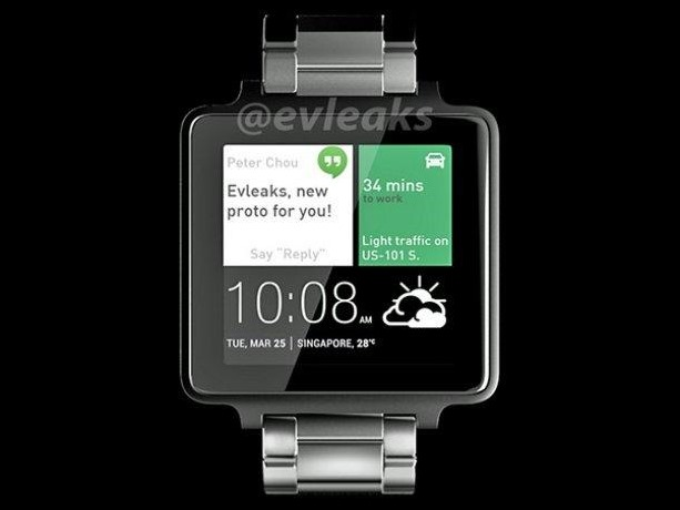 Así es el reloj inteligente de HTC