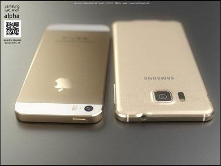 ¿Copió el Samsung Galaxy Alpha el diseño del futuro iPhone 6?