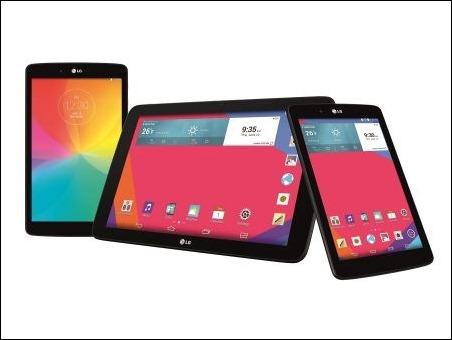 LG presenta sus nuevos tablets G Pad en tres tamaños de pantalla