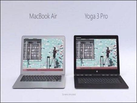 Microsoft compara en un video al MacBook Air con Lenovo Yoga 3 Pro