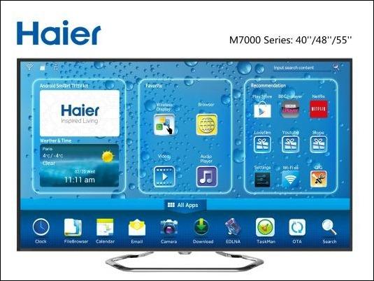 Haier M7000 : la primera gama de televisores Android 4.2 integrado