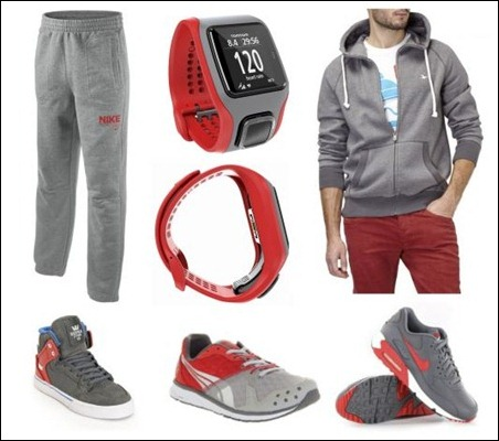 knolling red grey low