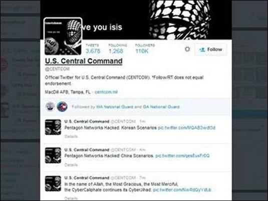 Ejercito Islámico hackea la cuenta de Twitter del comando militar de EE.UU.