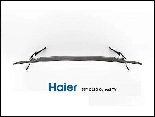 TV OLED curvo Full HD de Haier, mayor contraste en imagen.