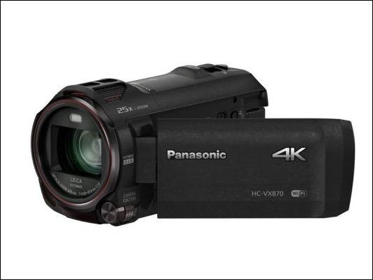 Panasonic amplía su gama de videocámaras domésticas 4K con la VX870