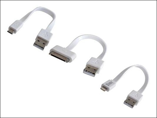 Cables planos que no se enredan para cargar y conectar smartphones o tablets