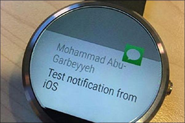 Android Wear muestra notificaciones del iPhone sin jailbreak