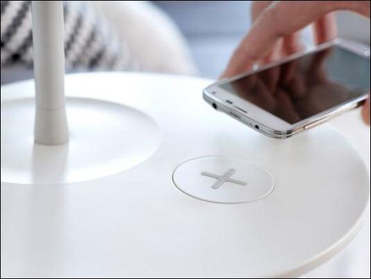 Ikea lanzara muebles con recarga inalámbrica de dispositivos