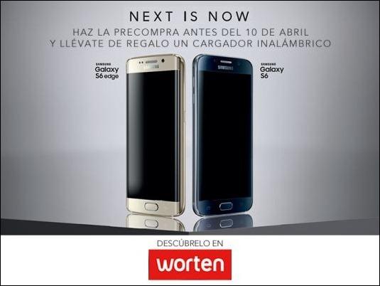 Worten premia la prereserva del Samsung Galaxy S6 y S6 Edge con un cargador inalámbrico de regalo