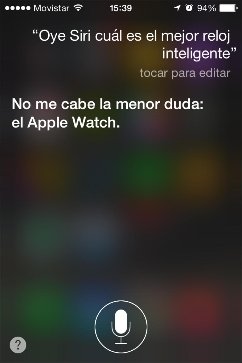 """Siri lo tiene claro, el mejor smartwatch es """"Apple Watch"""""""