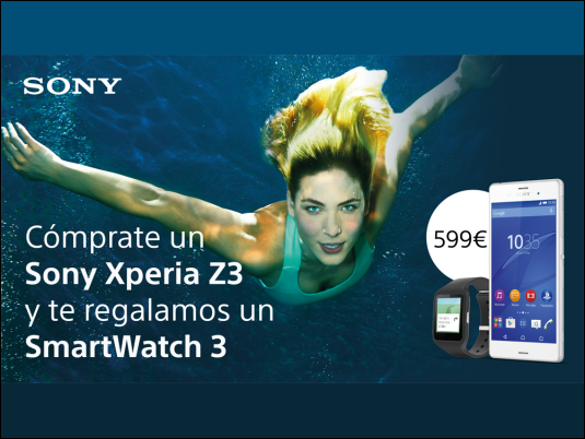 Este mes de mayo llévate un Xperia Z3 y un SmartWatch 3 por 599€