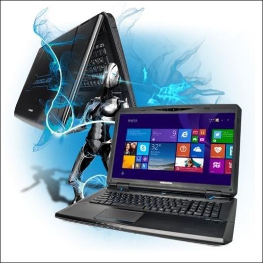 Medion Eerazer X7613 portátil gaming con carcasa de aluminio