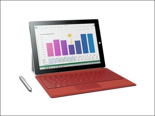 Microsoft Surface 3 y sus accesorios, ya a la venta
