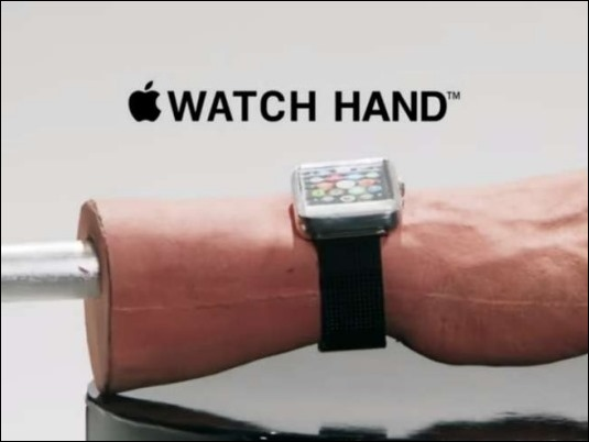 Apple Hand, el gadget que resuelve problemas con los tatus del Apple Watch