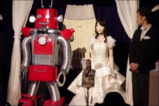 """Se celebra en Tokio la primera """"boda"""" de una pareja de robots"""