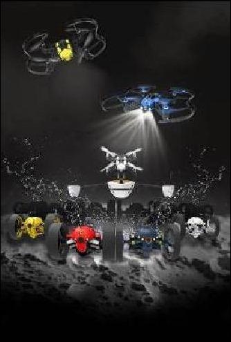 13 robots conectados ultratecnológicos se unen al equipo de los Parrot Minidrones.
