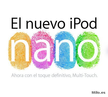 Apple reinventa el iPod nano con la interfaz Multi-Touch