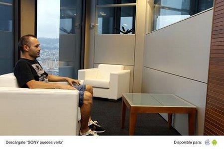 Iniesta, Villa y Márquez presentan el nuevo televisor Bravia 4K de Sony
